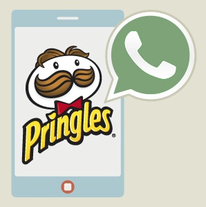Campaña de marketing de Pringles España en 2012, a través de whatsapp #marketing