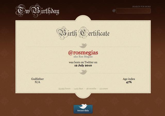 Descubre cuándo es tu cumpleaños en Twitter #twitter