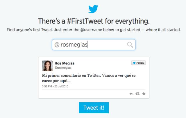 Descubre cuál fue tu primer tweet #Twitter