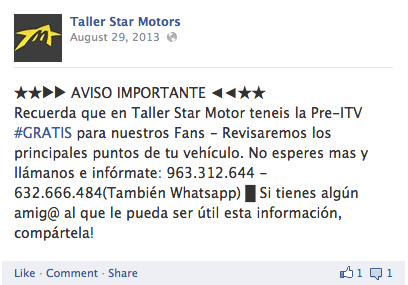 www.facebook.com/TallerStarMotors
