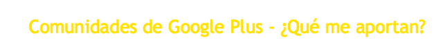 Comunidades Google Plus-Tutorial